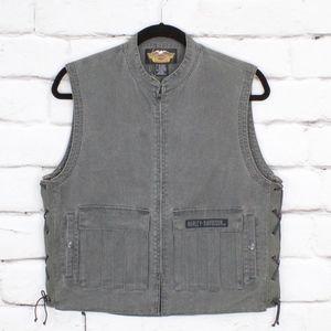 NEW Harley-Davidson Cargo Canvas Iron Vest Size M